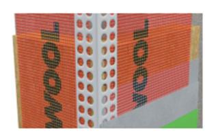 Профиль ROCKWOOL угловой армирующий (с сеткой 10х15) - для усиления углов. (АКЦИЯ: поштучная продажа).